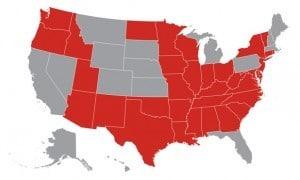 Grey states have no school CPR legislation